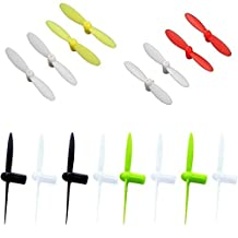 Estes Proto X SLT Nano [QTY: 1] Propeller Blades Yellow & White Propellers Props Prop Set [QTY: 1] Black Rotor Blade Replacements [QTY: 1] Red [QTY: 1] Lime Green