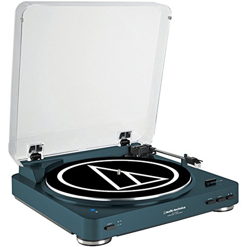 Audio-Technica AT-LP60NV-BT Fully Automatic Bluetooth Wireless Belt-Drive Stereo Turntable, Navy ()
