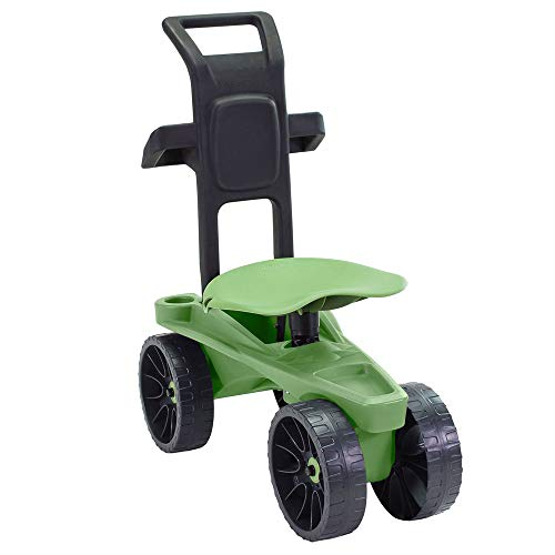 (Easy Up Deluxe XTV Rolling Garden Seat and Scoot - Adjustable Swivel Seat, Heavy Duty Wheels, and Ergonomic Design to Assist Standing, Sitting, and Bending Over Made in The USA (Deluxe XTV))
