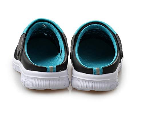 Plage Femme de Bains Homme Bleu Salle Piscine Sabots Mules Respirante Antidérapant Chaussures Clogs Extérieur Chaussons Sandales Jardin de Mesh SPYvdpP