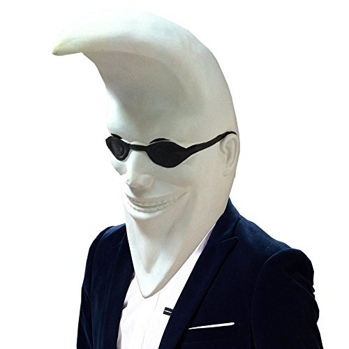 SHEENROAD Magic Man's Mr. Moon Latex Mask