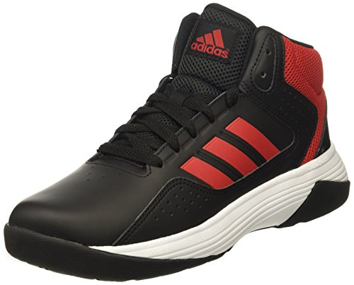 adidas NEO Boys' CF Ilation Mid K Basketball-Shoes, Black/Scarlet/White, 4 Medium US Little Kid (Shoes Basketball Iv)
