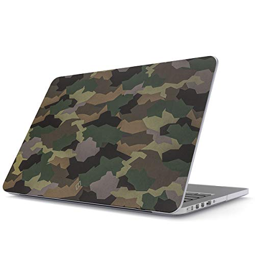 BURGA Hard Case Cover Compatible with MacBook Air 13 inch Case Release 2018-2019, Model: A1932 with Retina Display and Touch ID Tropical Army Camouflage ()