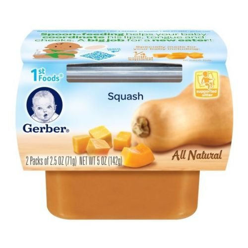 Gerber 1st Foods Squash, 5-Ounce (Pack of 8)