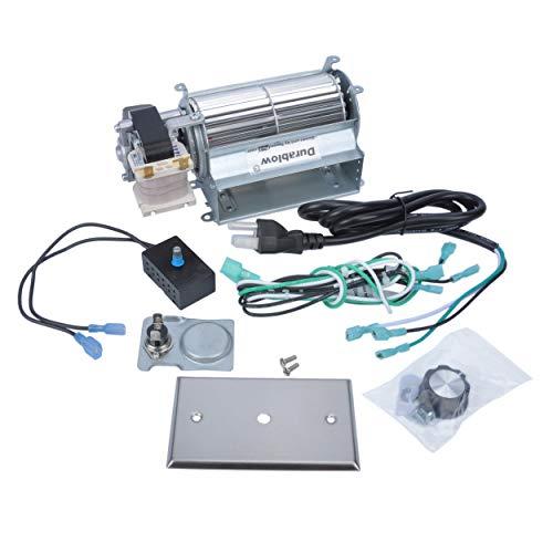 (Durablow MFB005-A GFK21, FK21 Replacement Fireplace Blower Fan Kit for Heatilator, Majestic, Vermont Castings, Monessen, Heat n Glo, FMI, CFM, DESA, Rotom HB-RB21)