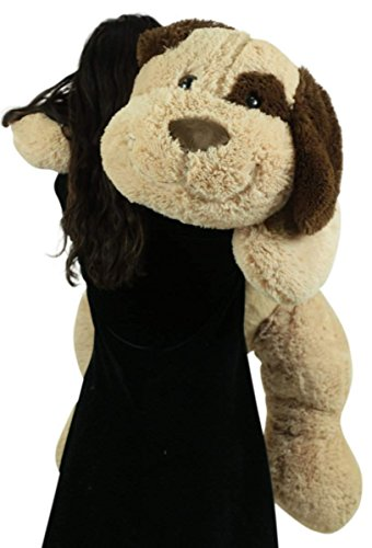 Extra Large Stuffed Puppy Dog 48 Inch Big Plush Soft 4 Foot Stuffed Animal (Big Plush Stuffed Dog)