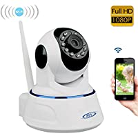 Amorvue Wireless Wifi IP Security Camera 1080P Indoor Home Surveillance System Baby Pet Monitor 2 Way Audio, Day/Night Vision Webcam (White)