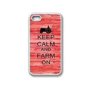 Keep Calm And Farm On Red-Wood iphone 6 plus 5.5 White Case - For iphone 6 plus 5.5 G White - Designer TPU Case Verizon ATT Sprint