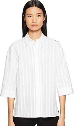 Escada Sport Women's Nabidha Short Sleeve Stripe Top White 40