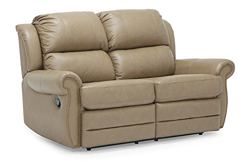 Where To Find Leather Reclining Loveseat Beige Asnov