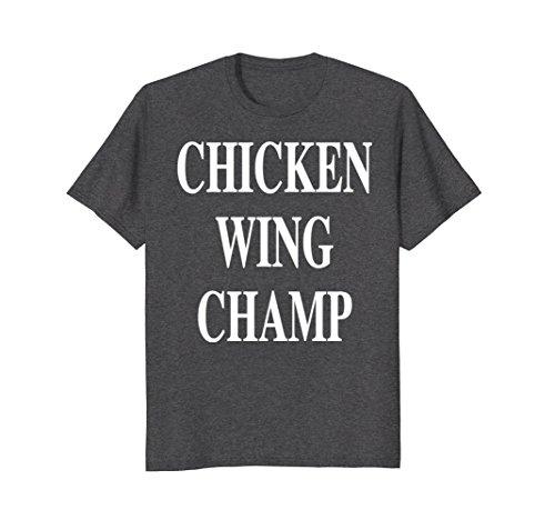Mens Chicken Wing Champion T-Shirt Medium Dark Heather (West T-shirt Wing)