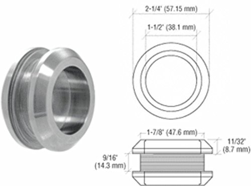 CRL Brushed Stainless 2-1/4