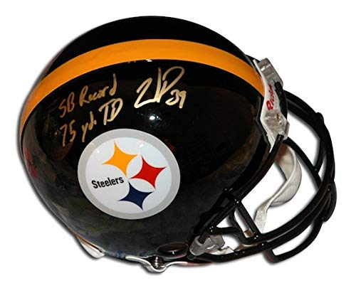 (Autographed Willie Parker Steelers Riddell Proline Helmet inscribed SB Record 75 YD TD Run - Certified Authentic Signature)