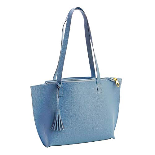 iFOMO Womens Vintage Tote Bag Fringed Shoulder Bag PU Leather Satchel Bag Fashion Hobo - Outlet Bourke And Dooney