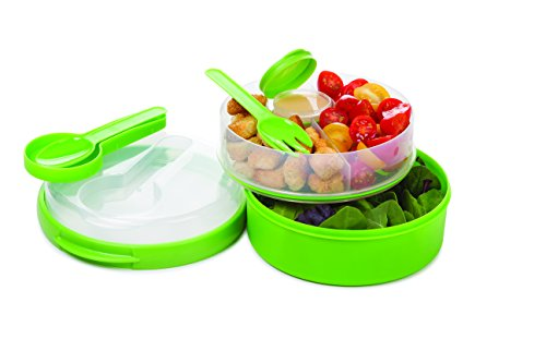 Prep Solutions by Progressive On the Go Hand Held Lunch Box/Salad Bowl - Green (Handheld Lunch Box)