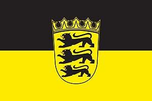 Bandera de Baden-Wurtemberg (con escudo 160g, ca. 120 cm x 200 cm