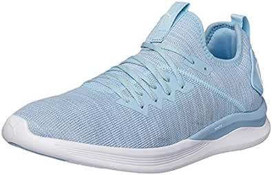PUMA Women's Ignite Flash Evoknit WN's Ceru Shoes, Cerulean-Quarry-puma White, 8.5 US