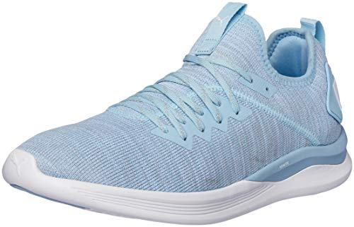 (PUMA Ignite Flash Evoknit Running Shoes - Womens - Cerulean/White - UK 5.5)