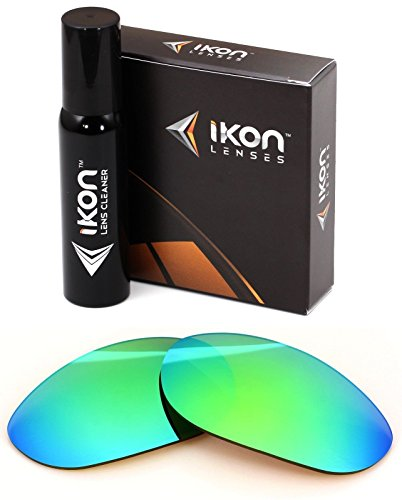 Polarized Ikon Iridium Replacement Lenses For Oakley Monster Dog Sunglasses - Emerald Green - Lenses Emerald Iridium