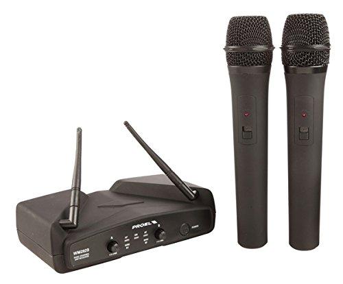 28 opinioni per PROEL WM202DM Sistema microfono wireless, UHF Dual Channel con diversità di