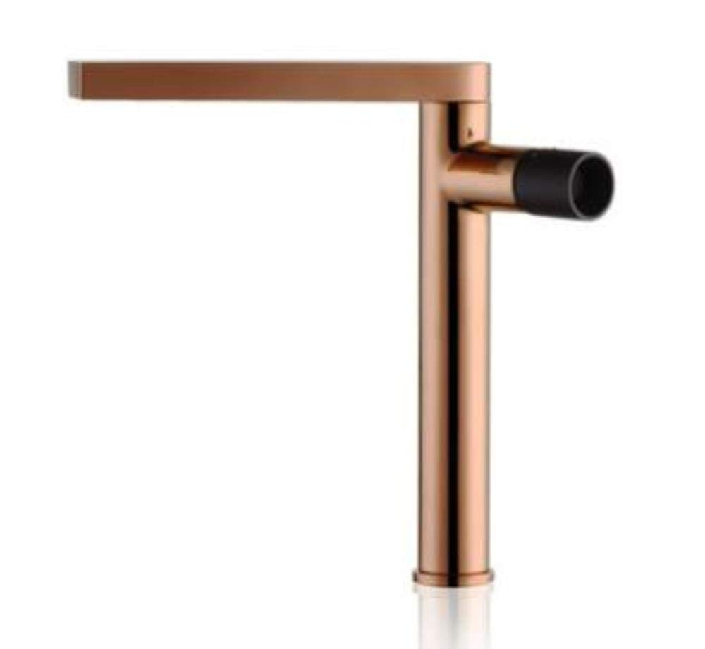 pink gold and Black Kai&Guo chrome brass single handle hot and cold 360 degree redating bathroom basin faucet,pink gold and white