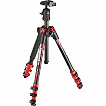 Manfrotto traveler BeFree Tripod with Ball Head - Red (MKBFRA4RD-BH)