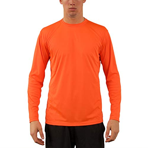 Vapor Apparel Men's UPF 50+ UV Sun Protection Performance Long Sleeve T-Shirt X-Large Safety Orange