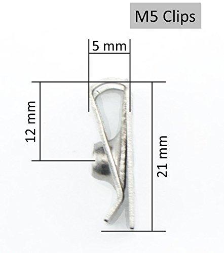 Tech-Parts-Koeln 30 Blechmuttern Verkleidungsclips Clip Schnappmutter M4 M5 M6 Metrische Gewinde rostfreier Edelstahl A2
