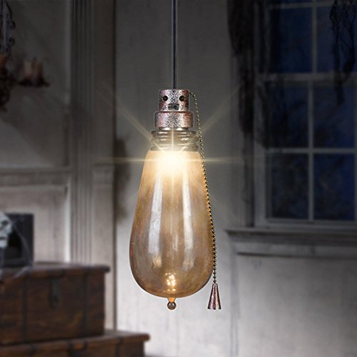 Gemmy Short Circuit Rusty Attic Light Bulb - Indoor Holiday Decoration, 10-Inch Height x 4-Inch Width for $<!--$12.14-->