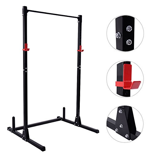 GHP 45''x50''x83'' Adjustable Height Gym Workout Strength Power Lift Rack Weight Stand by Globe House Products