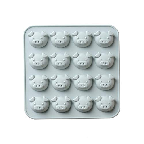 (Meet&Sunshine Silicone Mold,Animal Cake Cookie Chocolate Mould Lollipop Mold (Gray))