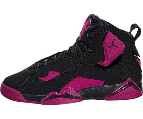 f1bdf3e333eb Galleon - Nike Jordan Kids Jordan True Flight Gg Black Black Sport Fuchsia Basketball  Shoe 4 Kids US