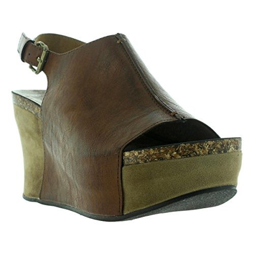 Image of Pierre Dumas Hester-14 Women's Platform Wedge Open Toe Sandals