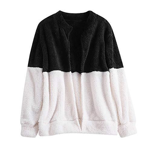 Soprabito Homebaby Maglione Classico Donna Nero Cappotto Outwear Felpa Lunghe Flanella Largo Maglione Pullover Soffice Cardigan Caldo Maniche Invernale Ragazza Giacca rOaqZr