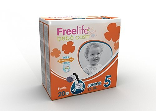 Freelife Pull Up Pantalon Junior (12à 18kg) Coque Saver 6paquets X 20(120Pull Ups) BebeCash 270190
