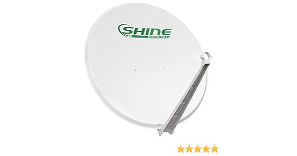 SHINE, SHPA100/FE-Antena parabólica 100 cm, soporte de Disco acero, hierro y de Disco para zonas de escape del aire