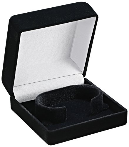 Optima 32-10501 Flocked Bracelet Box Black Watch Case