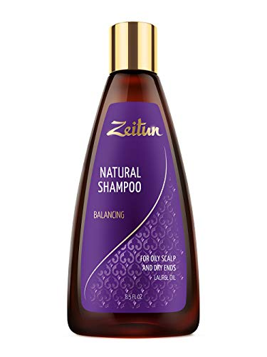 Zeitun Sulfate Free Shampoo - Clarifying Shampoo For Oily Hair & Scalp and Dry Ends - Balancing - Laurel Oil 8.5 oz (Best Shampoo For Oily Roots And Dry Ends)