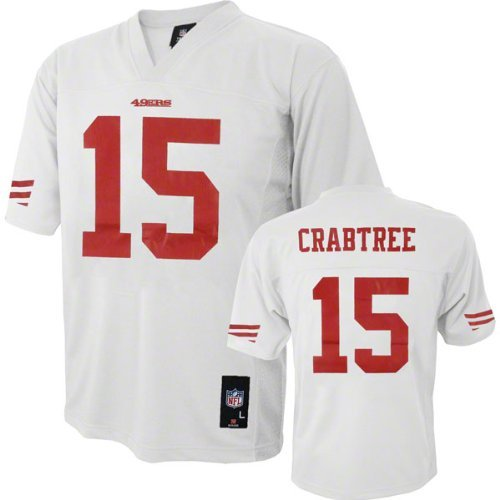 Michael Crabtree San Francisco 49ers #15 NFL Youth Alternate Jersey White