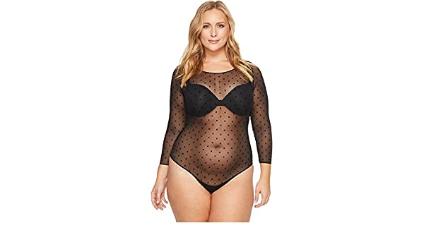 33f6e50249 SPANX Womens Plus Size Sheer Long Sleeve Bodysuit: Amazon.ca: Clothing &  Accessories