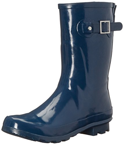 Boot Rain Chief Waterproof Navy Women Western Solid Mid HqTAO7wYw