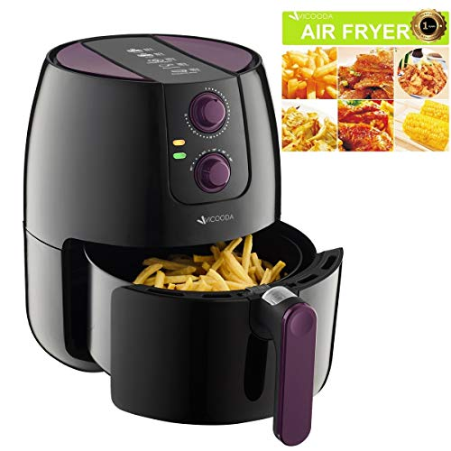 (VICOODA Air Fryer 3.7Qt/3.5L 1500W, Programmable Electric Fryer with 8 Cook Presets, Oil-Free Cooking, Non-Stick, With Detachable Basket for Cooking, Fry, Roast, Baking, Grill - Perfect Cook Assistant)