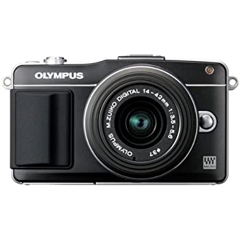 Olympus E-PM2 Mirrorless Digital Camera with 14-42mm Lens (Black) (Old Model)