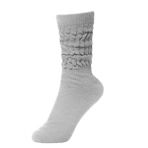 BRUBAKER Womens Or Mens Fitness Workout Slouch Socks Gym Light Grey EU35-38 / US3-6