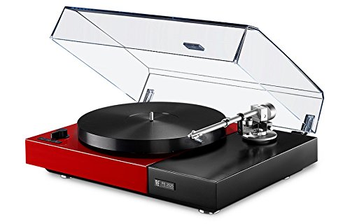 Perpetuum Ebner PE 2525 Turntable with Thorens Tonearm, Dust Cover (Red)