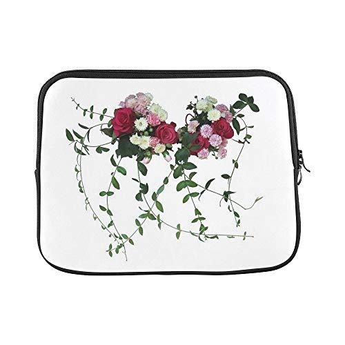 Design Custom Corsage Wedding Flower Summer Flowers Sleeve Soft Laptop Case Bag Pouch Skin for MacBook Air 11