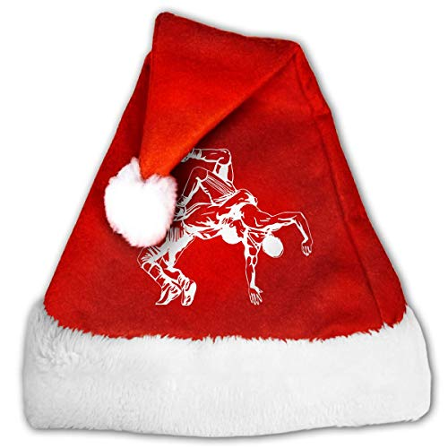 Plush Christmas Snowflake Hat Wrestling Clipart Christmas Hats for Holiday Celebration Red