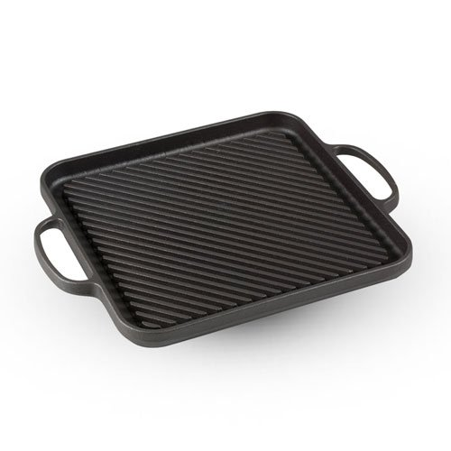 CAST IRON GRILL SQUARE PAN