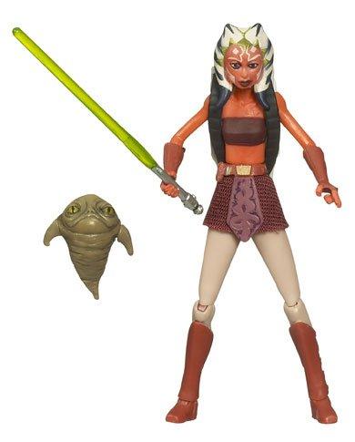 Star Wars Clone Wars Ahsoka (Star Wars Clone Wars Animated Action Figure No. 9 Ahsoka Tano with Rotta the Huttlet)