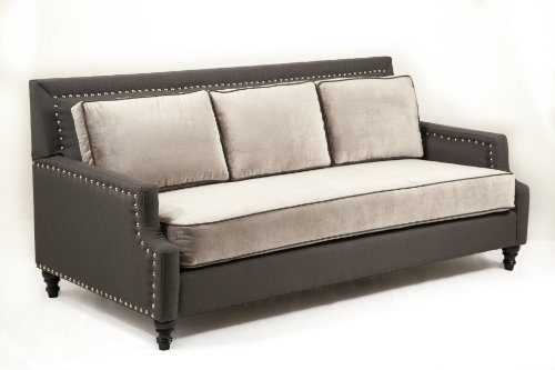 Loni M. Designs Madrid Sofa, Gray